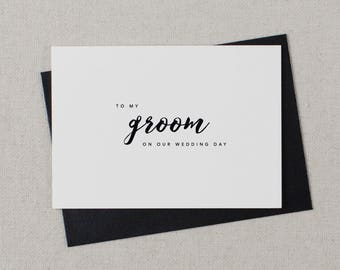 To My Groom On Our Wedding Day, I Can't Wait To Marry You, Wedding Card to Groom, Wedding Day Card, Wedding Cards, Future Husband Card, K8
