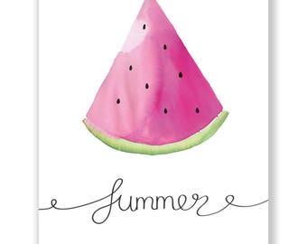 Summer melon Poster A4