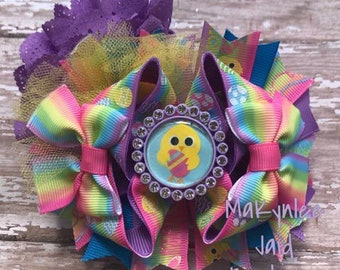 Easter OTT Boutique Bow| Easter Hairbow