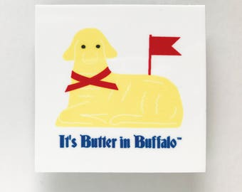 It's Butter in Buffalo™, buffalo magnet, buffalo ny art, buffalo gift, butter lamb, gifts under 10, easter magnet, bufffalo ny