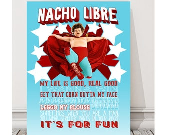 Nacho Libre Movie Quotes Wall Art - Canvas Poster Father's Day gift
