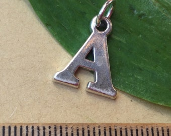 Letter R Charm Sterling Silver Initial A
