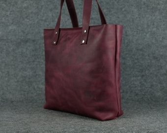 Women's LARGE tote bag / Leather shopping bag Leather tote Leather bag Gift for woman Womens leather Bag Womens leather hand bag Shopper bag