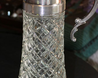 Lead Crystal and Stainless Decanter