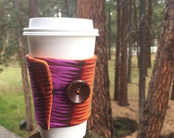 Reusable Coffee Sleeve - Abstract Multicolor Stripe