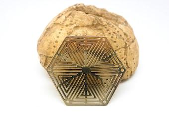 1 connector Hexagon 27 mm, gold (XEF33) print
