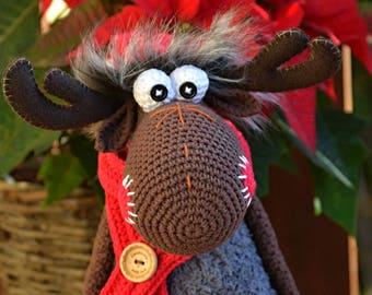 Crochet pattern - Crochet Moose by VendulkaM - Christmas decoration / Amigurumi/ digital pattern, DIY, pdf