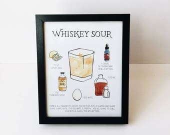 Whiskey Sour - 8x10 Print