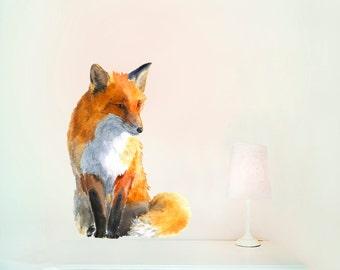 Woodland Fox Decor, Nursery Fox Decor, Woodland Fox Nursery, Woodland Fox Art, Nursery Fox Art, Fox Nursery, Fox Art - No PVC , Wall Decal S