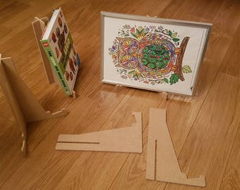 Frame Display Stand (A3 or A4 sized) or Book Display Stand.  Flat packing - ideal for craft fairs