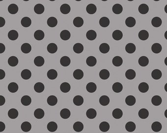 Medium Tone on Tone Dots Black :  Riley Blake Designs Cotton Basics 1 Yard