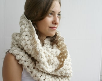 Infinity Loop Scarf Beige For Her for women  and Gift under 60 Christmas Gift