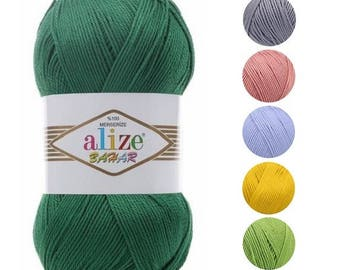 Yarn Alize Bahar yarn cotton yarn 100% mercerized cotton thread crochet cotton natural cotton natural yarn knitting cotton summer yarn