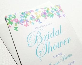Wedding Shower Invitation - Bridal Shower Invitations - Bridal Party Invitation - Elegant Wedding Party Invites   Butterfly