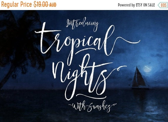 70% OFF Sale Calligraphy Font, Modern Calligraphy, Digital Fonts, Wedding Font, Invitation Font, Script Font, Hand Written, Tropical Nights