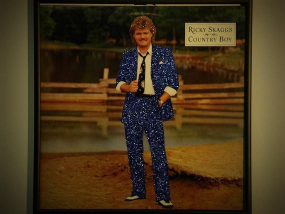 Glittered Record Album - Ricky Skaggs