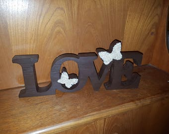 Handmade love ornament for the home