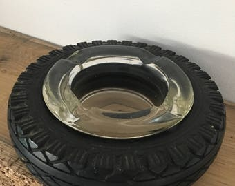 Two vintage 'Good Year' tyre ash trays