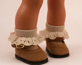 Knitted socks for American Girl / Götz / Wichtel  / Paola Reina  / Minouche  / Zwergnase / My Twinn dolls