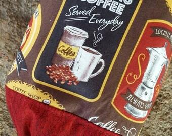 Coffee Shopping Bag Holder, Bag Dispenser, Grocery Bag Holder, Bag Keeper, Coffee Decor, Housewarming Gift