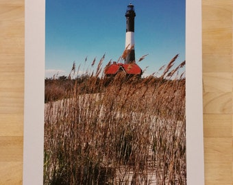 Fire Island Lighthouse Blank Greeting Card