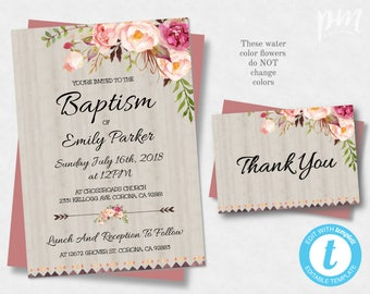 Baptism Invitation Template Christening Invite Template