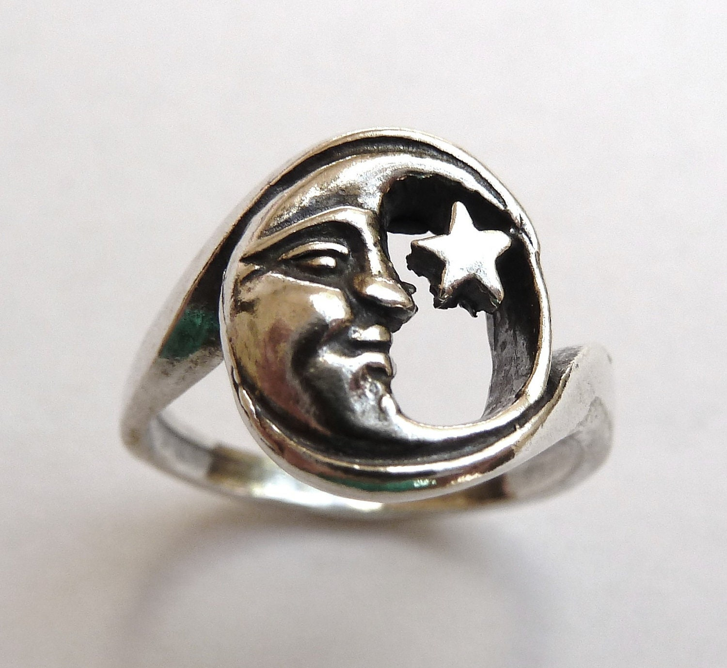 best crescent of rings under ring catbird lovely moon wedding