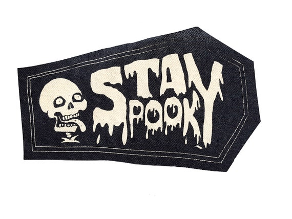 Stay Spooky Skeleton Stitch-On Patch