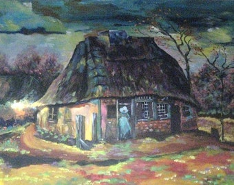 The Cottage : Van Gogh Inspired Painting