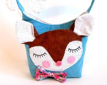 girl's purse fawn deer