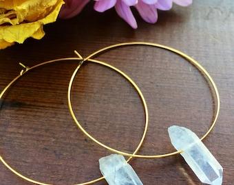 Handmade wire hoop earrings