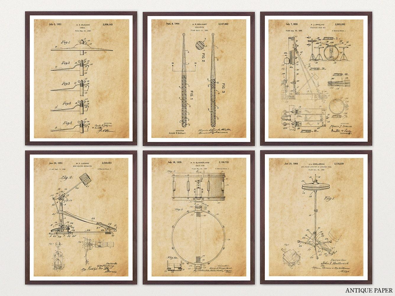 Drum Patent Posters - Drums - Drum Art - Drum Poster - Drum Patent ...