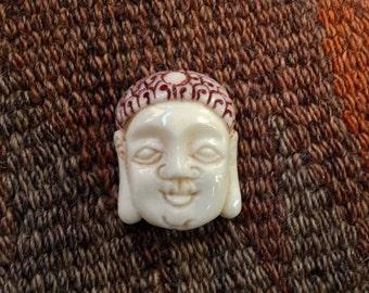 Carved Bone Buddha Bead