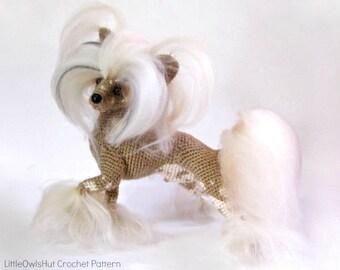 105 Crochet Pattern Chinese Crested dog - PDF file Amigurumi by Chirkova Etsy
