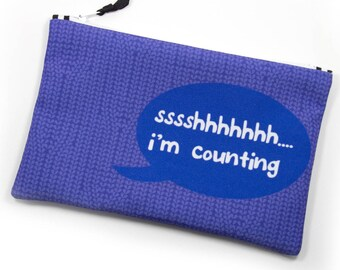 Zipper Bag, Fiber Art Geek,Shhh I'm Counting
