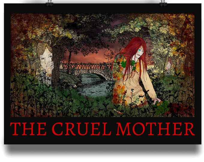 THE CRUEL MOTHER Illustration Art Print. Available in sizes A4 - A1. Printed on 220gsm semi-gloss paper.