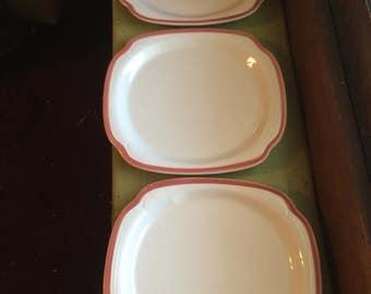 syracuse china plates 21-A white peach