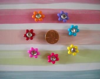 Mini Rainbow Flower magnet set