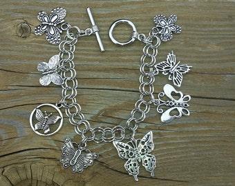 Butterflies  charm bracelet