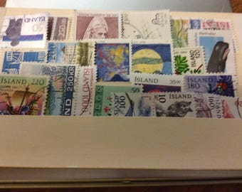 Used island  postage stamps