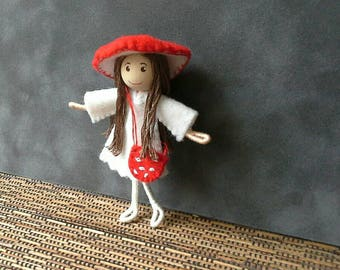 Toadstool Elf Bendy Doll