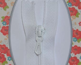 No white zipper closure detachable Nylon zip closure Z51 dress