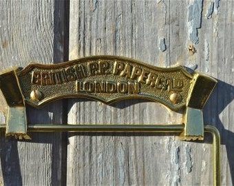 Antique brass British paper co. Ltd toilet roll holder wall mounted SBBP