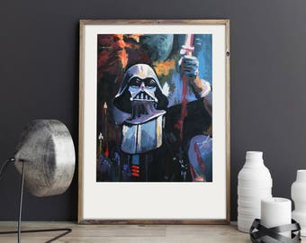 May the force be with you, Darth Vader poster, Star Wars, Illustration art, digital print, signed A3 poster, Art Gift, Fine Print