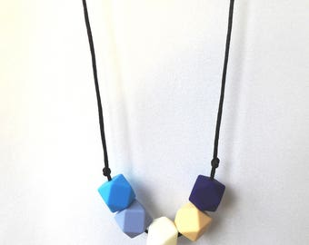 Silicone baby necklace Baby silicone necklace Nursing Necklace Teether Necklace For new mum Baby teether necklace Chew Babywearing Chewelry