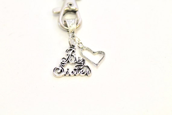 Big Sister Keychain, Sister Gift, Sorority Gift, Sorority Sister Gift, Sister Love, Gift For Her, Sisterly Love, Sister Birthday Gift