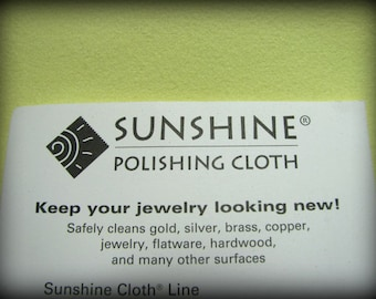 Jewelers Favorite Large Size POLISHING JEWELRY CLOTH Sunshine Polishing Cloth for Sterling Silver and Gold Jewelry 5 x 7.5 inches