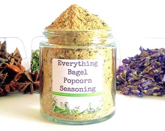 Everything Bagel/Popcorn Seasoning/Gourmet Popcorn/Popcorn Bowl/Popcorn Items/Popcorn/Food Gift/Foodie Gift/Party Favors/Wedding Favors