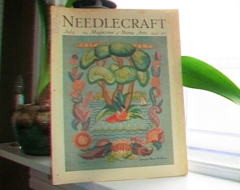 1931 Needlecraft Magazine of Home Arts July Issue Vintage 1930s Sewing