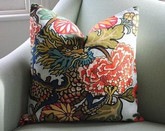 Schumacher Chiang Mai 20 Inch Cushion Cover Pillow